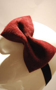 Burgundy bow by Rosie Olivia Product photo