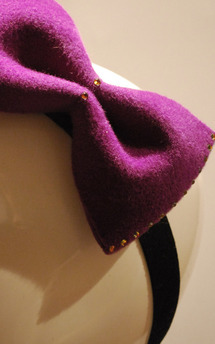 Purple bow with swarovski crystals by Rosie Olivia Product photo