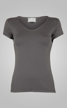 Classic grey v neck tee by Amy Segal Product photo