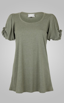 Knot sleeve top sage by Amy Segal Product photo