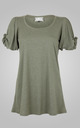 Knot Sleeve Top Sage by Amy Segal