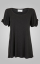 Knot Sleeve Top Charcoal by Amy Segal