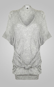 Goddess top grey knit by Amy Segal Product photo