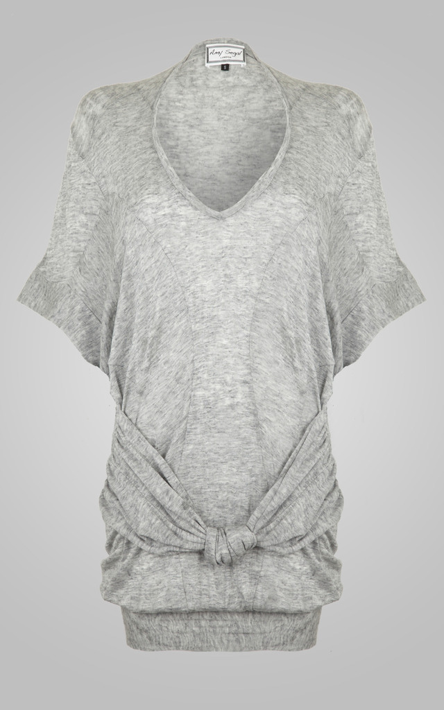 Goddess Top Grey Knit by Amy Segal