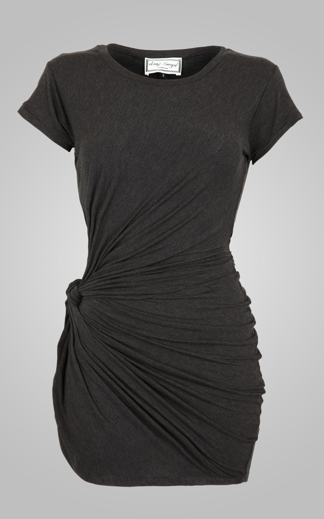 Knot Tunic Charcoal by Amy Segal