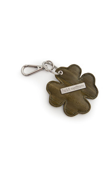 Superstition eel skin 4 leaf clover key ring by Heidi Mottram Product photo