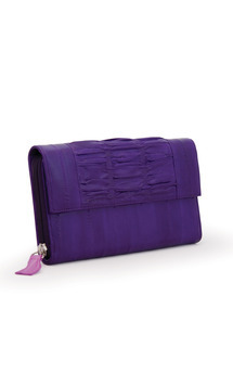 Sea lilly eel skin long purse by Heidi Mottram Product photo