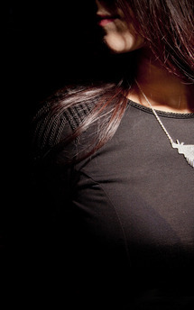 Feathered angel wings necklace  by Becky Dockree Jewellery Product photo