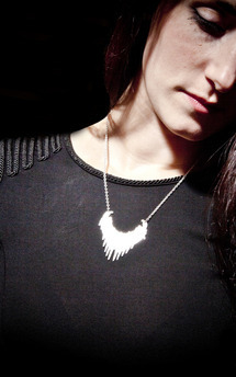 Angel wings drop necklace  by Becky Dockree Jewellery Product photo