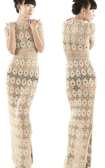 Crochet dress by Cristina Adami Product photo