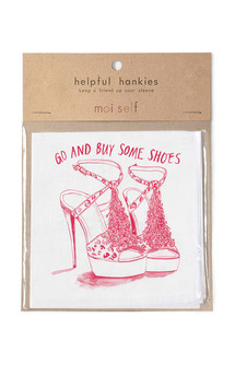 Helpful hankies   go and buy some shoes  by Moi Self Product photo