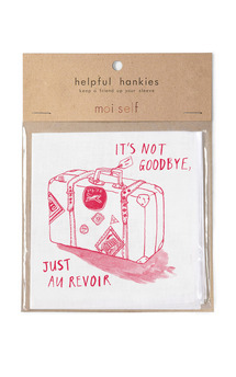 Helpful hankies   it's not goodbye just au revoir  by Moi Self Product photo