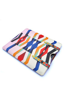 Leather ipad case - chevron love by Tovicorrie Product photo