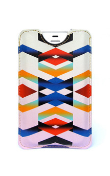 Leather iphone 4::4s case - chevron love by Tovicorrie Product photo