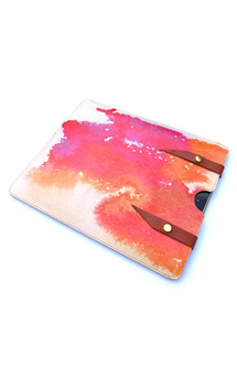Leather ipad case - vibrant splash by Tovicorrie Product photo
