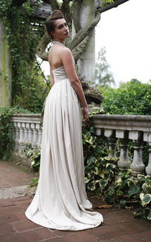 Long beige dress by Deborah Courtoy Product photo