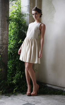 Short beige dress by Deborah Courtoy Product photo
