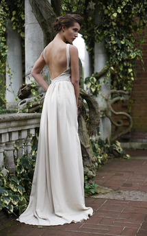 Beige evening dress by Deborah Courtoy Product photo