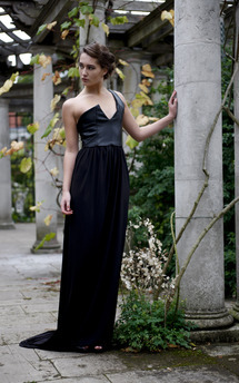 Long black dress by Deborah Courtoy Product photo