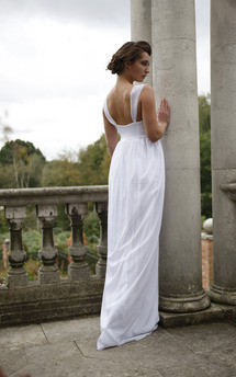 Long white dress by Deborah Courtoy Product photo