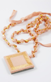 Kosmos ribbon necklace | pink by Isabel Wong Product photo