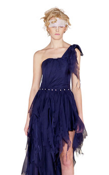 Silk chiffon asymmetric dress  by Luna Sky Product photo
