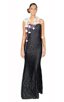 Strapless sequin lace gown  by Luna Sky Product photo
