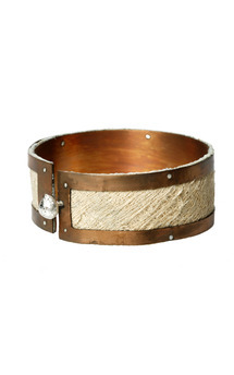 Copper tribal cuff by K Rothwell Jewellery Product photo