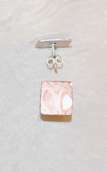 Traditional mokume studs by K Rothwell Jewellery Product photo