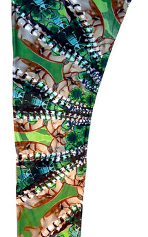Bright print leggings by Dominique Kral Product photo