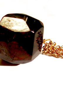 Chunky red garnet necklace by K Rothwell Jewellery Product photo