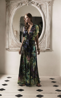 Burnout silk madame maxi by Fifi Product photo