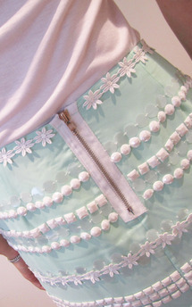 Hand embellished thisbe skirt by Fifi Product photo