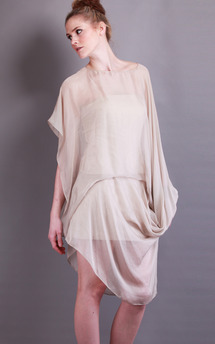 Infinity dress | taupe | silk by Isabel Wong Product photo