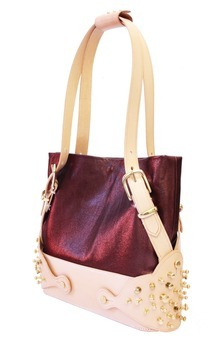 Helios bag (metallic burgundy) by Tamzin Lillywhite Product photo