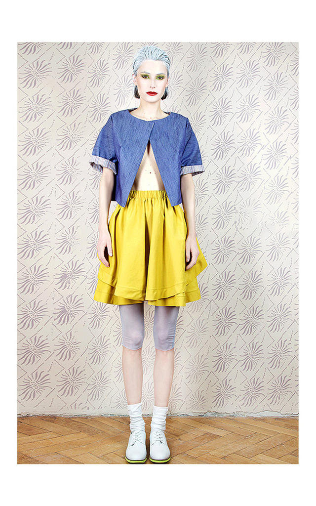 Mustard Double Skirt by Est By Es.
