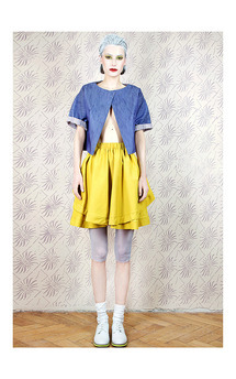 Mustard double skirt by Est By Es. Product photo