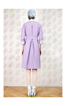 Violet printed coat by Est By Es. Product photo