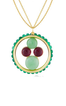Dreams catcher pendant green by Trisori Shop Product photo
