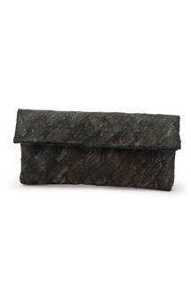 Mottled Poulard Leather Derma Clutch by Heidi Mottram Product photo
