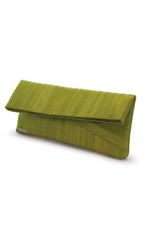 Aura eel skin oversize clutch bag by Heidi Mottram Product photo
