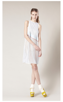 Sheer ladder dress by Sophie Waterfield Product photo
