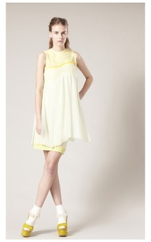 Pleated cord dress  by Sophie Waterfield Product photo