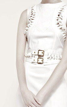 Cream detail dress by Umit Kutluk Designs Product photo