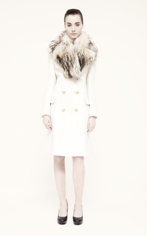 Real fur trench by Umit Kutluk Designs Product photo