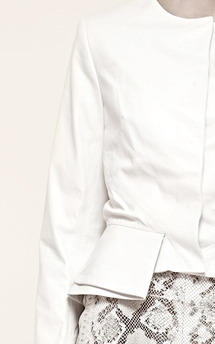 Cream leather jacket by Umit Kutluk Designs Product photo