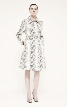 Snakeskin trench by Umit Kutluk Designs Product photo
