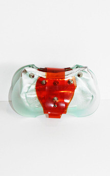 Futuristic purse by Laura Jessica. Product photo