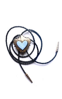 Heart bolo, powder blue by Rosita Bonita Product photo