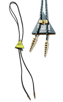 All seeing eye pyramid bolo, acid yellow by Rosita Bonita Product photo